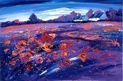 Aberlady Poppies by Lynn Rodgie -  sized 30x20 inches. Available from Whitewall Galleries